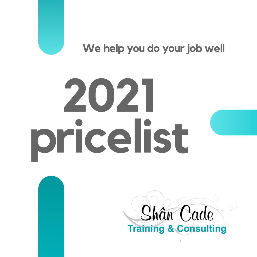 2021 pricelist