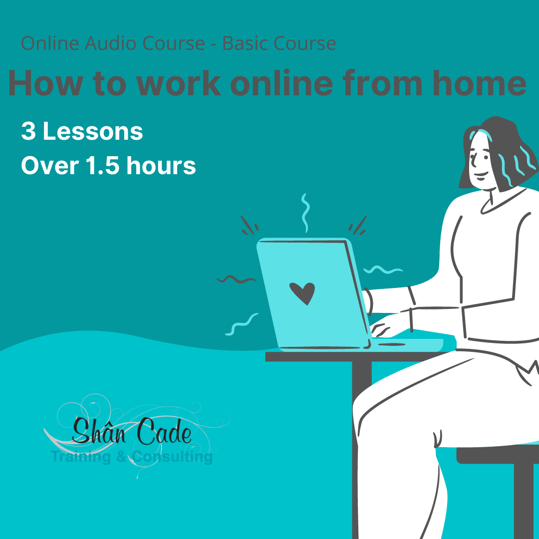 How to work online from home - basic audio course