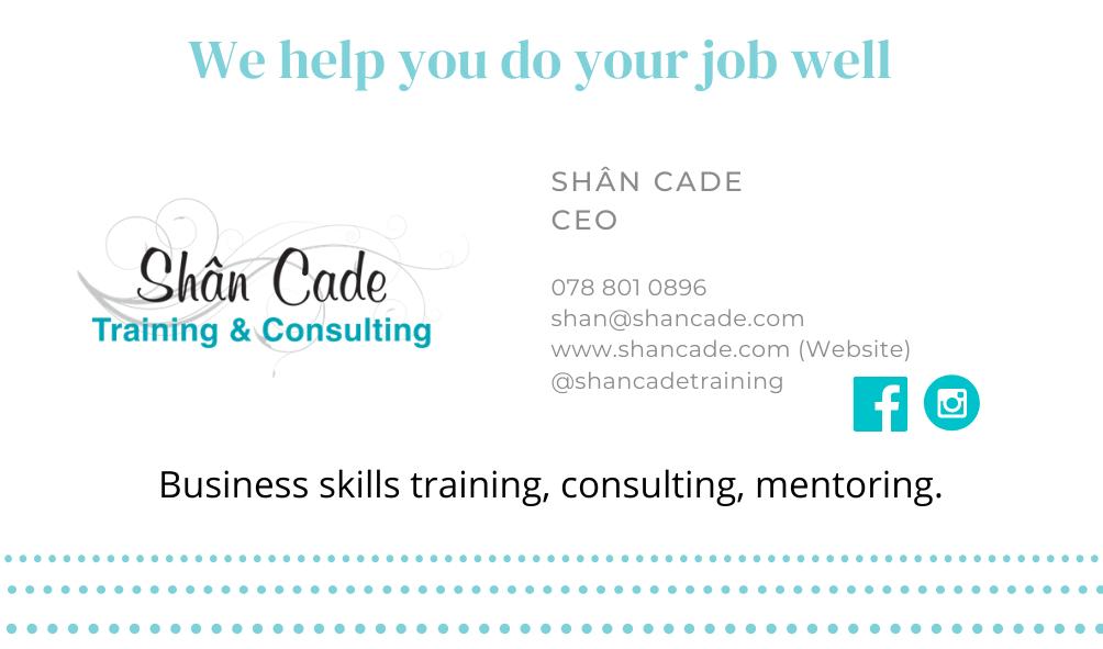 Shân Cade Digital business card - contact