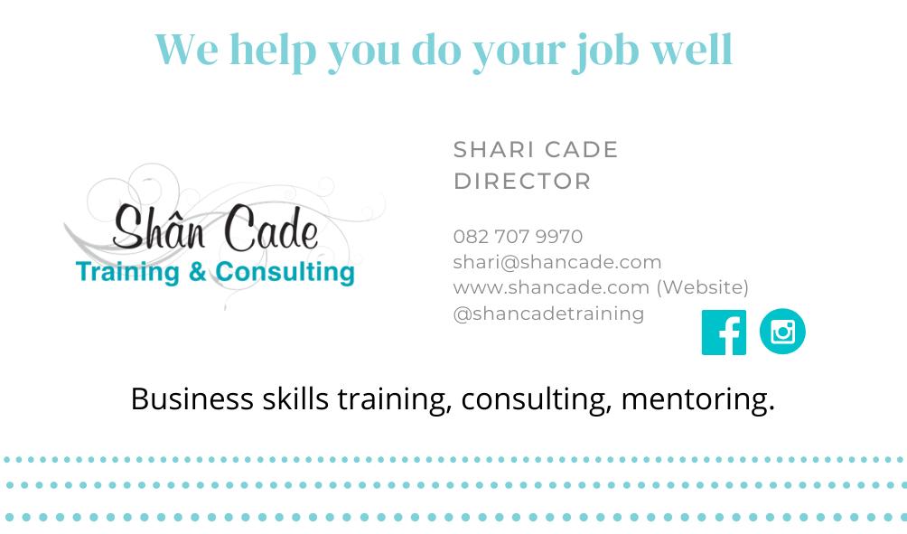 Shari Cade - Digital business card - contact us